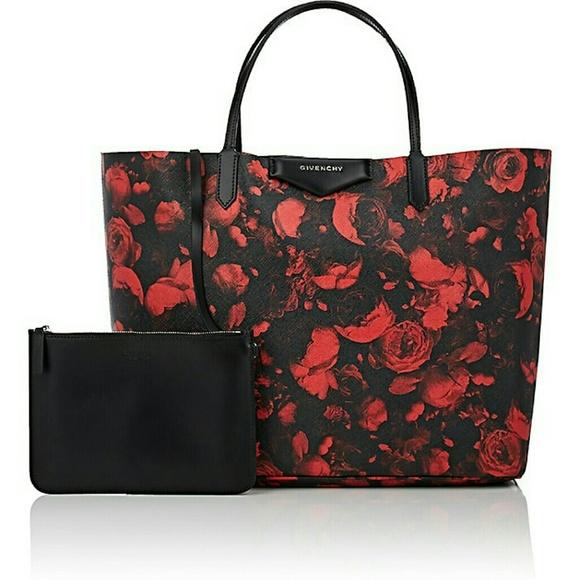 e211094639 Givenchy Handbags - Givenchy Rose Print Antigona Tote